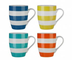 Set 4 cani Colourful Stripes 342 ml - Vivre