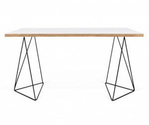 Radni stol Flow White & Plywood