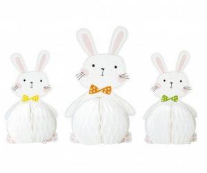 Set 3 ukrasa White Bunny