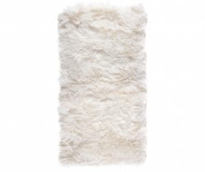 Tepih Leede Rectangular White 70x140 cm