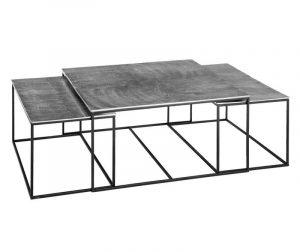 Set 3 stolića za kavu Rock Shine