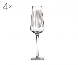 Set 4 čaše za šampanjac Jazz 270 ml