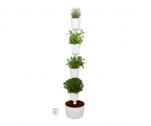 Komplet posuda za cvijeće sa sistemom samozalijevanja Abiel White Four Plus