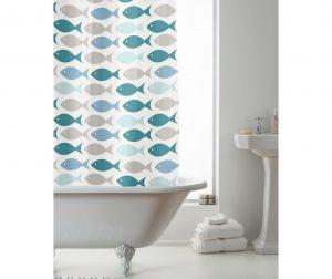 Zavjesa za tuš Coastal Fish 180x180 cm
