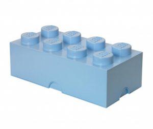 Kutija s poklopcem Lego Rectangular Pale Blue