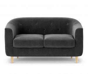 Sofa dvosjed Corde Dark Grey