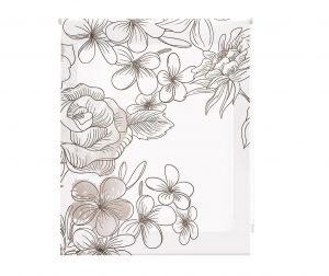 Rolo zastor Japan Blossom Taupe 180x250 cm