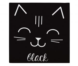 Slika Cat Black 27x27 cm