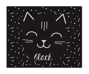 Tepih Cat Black White 90x110 cm