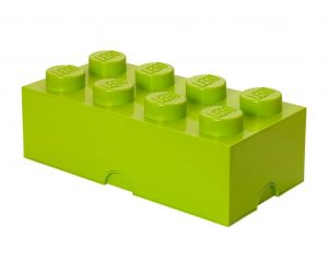 Kutija s poklopcem Lego Rectangular Extra Light Green