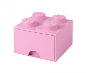Kutija za spremanje Lego Square One Light Pink