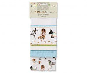 Set 3 kuhinjska ručnika Show Dogs 45x65 cm