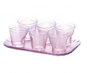 Set 6 čaša i pladanj za posluživanje Composto Lilac