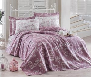 Posteljina Single Ranforce Pique Samyeli Lilac