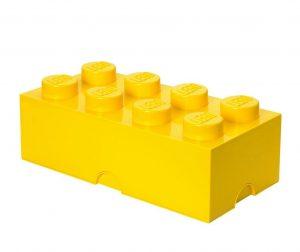 Kutija s poklopcem Lego Rectangular Extra Yellow