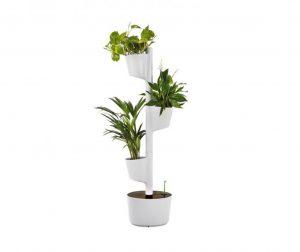 Komplet posuda za cvijeće sa sistemom samozalijevanja Asha White Three