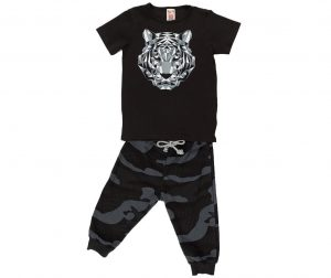 Set dječja majica kratkih rukava i hlače Soldier Tiger Baggy 5 god.