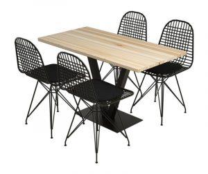 Set stol i 4 stolice Sun Silverbirch