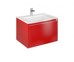 Set ormarić za umivaonik i umivaonik Cielo 60 Imperial Red