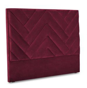 Uzglavlje kreveta Chiara Bordeaux 160x120 cm